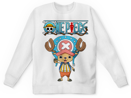 "Детский свитшот унисекс ""One Piece"" - аниме, манга, ван пис, one piece, тони тони чоппер"