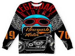 """Детский свитшот унисекс """"Legendary riders"""" - крылья, мотоцикл, скорость, транспорт, гонщик"""