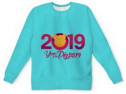 """Детский свитшот унисекс """"Новый год"""" - новый год, свинья, 2019"""