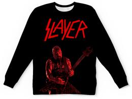"Детский свитшот унисекс ""Slayer"" - рок, slayer, хэви метал, хардрок, слейер"