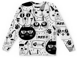 """Детский свитшот унисекс """"Котики"""" - стиль, рисунок, коты, детский, кошачий"""