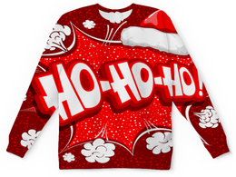 """Детский свитшот унисекс """"Ho Ho Ho"""" - новый год, зима, красный, рождество, санта"""