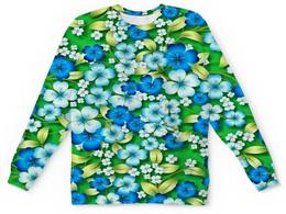 """Детский свитшот унисекс """"Синие цветы"""" - цветы, весна, синий, природа, цветочки"""