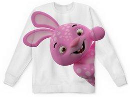 """Детский свитшот унисекс """"Розовый слон"""" - заяц, кролик"""