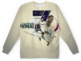 "Детский свитшот унисекс ""Cristiano Ronaldo  (1)"" - футбол, футболист, криштиану роналду, фк реал мадрид"