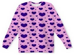 "Детский свитшот унисекс ""Синее сердце"" - сердечки, любовь, сердце, день святого валентина, я люблю"