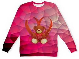 """Детский свитшот унисекс """"Плюшевый мишка"""" - сердце, любовь, медведь, мишка, игрушка"""
