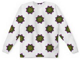 """Детский свитшот унисекс """"Яркие цветы мехенди"""" - цветы, орнамент, этнический, мехенди"""