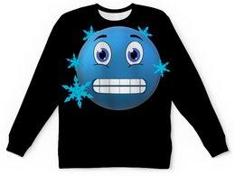 """Детский свитшот унисекс """"Калатун"""" - зима, осень, смайлик, морозко, холодная погода"""