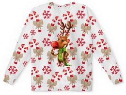 """Детский свитшот унисекс """"новый год"""" - новый год, зима, подарки, снежинки, олень"""