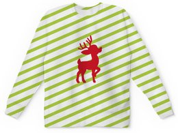 """Детский свитшот унисекс """"Олень"""" - новый год, животные, полосы, олень, линии"""
