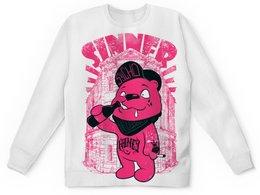 """Детский свитшот унисекс """"Медведь бандит"""" - гранж, медведь, пиво, sinner, грешник"""