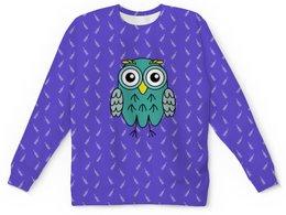 """Детский свитшот унисекс """"Мятная Сова"""" - животные, рисунок, сова, animals, owl"""
