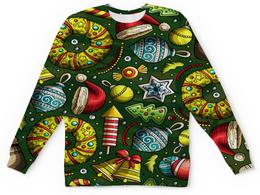 """Детский свитшот унисекс """"Елочные игрушки"""" - праздник, новый год, игрушки, подарки, елка"""