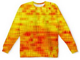 """Детский свитшот унисекс """"Текстура"""" - полосы, желтый, краски, текстура, линии"""