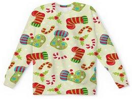 """Детский свитшот унисекс """"Праздник"""" - праздник, конфеты, новый год, подарки, носок"""