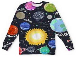 """Детский свитшот унисекс """"Планеты"""" - звезды, космос, планеты, созвездия, галактика"""