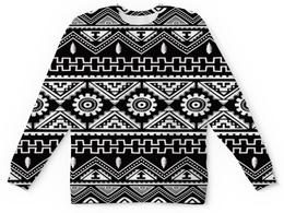 """Детский свитшот унисекс """"Черно-белая графика"""" - узор, графика, абстракция, черно-белые, треугольники"""