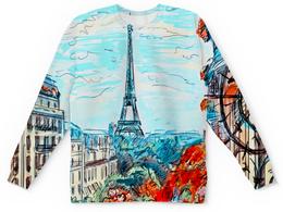 "Детский свитшот унисекс ""Париж"" - город, краски, природа, париж, эйфелева башня"