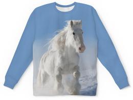 """Детский свитшот унисекс """"Лошадь"""" - лошадь, фотография, животное, конь"""