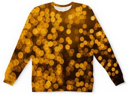 """Детский свитшот унисекс """"Золотой"""" - свет, блики, золотой, салют, искры"""