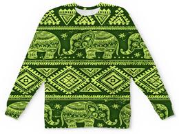 """Детский свитшот унисекс """"Слоны"""" - узор, слон, этника, слоны, ромбы"""