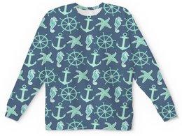 """Детский свитшот унисекс """"океан"""" - звезда, море, якорь, океан, штурвал"""