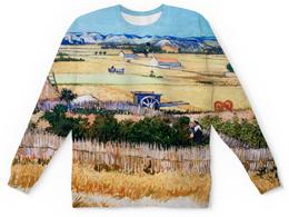 "Детский свитшот унисекс ""Урожай (картина Ван Гога)"" - картина, ван гог"