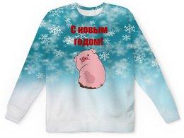 """Детский свитшот унисекс """"Новый год"""" - новый год, кабан, свинья, 2019, год кабана"""