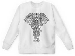 """Детский свитшот унисекс """"Индия"""" - узор, животные, слон, роспись, индия"""