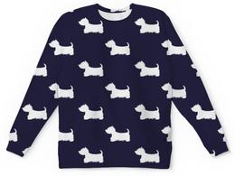 """Детский свитшот унисекс """"Собачки"""" - животные, пес, собаки, щенки, терьер"""
