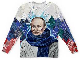 "Детский свитшот унисекс ""Putin Design"" - флаг, символ, президент, путин, в образе"