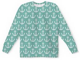 """Детский свитшот унисекс """"Морское настроение"""" - якорь, море, узор"""