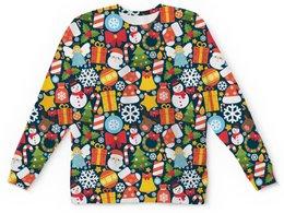"Детский свитшот унисекс ""НОВОГОДНИЙ"" - стиль, игрушки, подарки, дед мороз, елки"