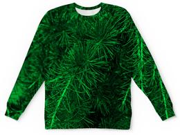 """Детский свитшот унисекс """"Зеленая ель"""" - деревья, зеленый, природа, елка, ель"""