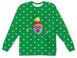"""Детский свитшот унисекс """"Сова в шапке"""" - новый год, зима, сова, шапка, совы"""
