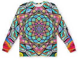 """Детский свитшот унисекс """"Mandala HD2"""" - узор, ретро, классика, этно, симметрия"""