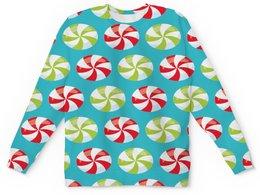 """Детский свитшот унисекс """"Конфеты"""" - праздник, новый год, бант, подарки, снежинки"""