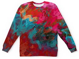 """Детский свитшот унисекс """"Абстрактный градиентный дизайн. Дигитал акварель"""" - арт, абстракт, градиент, микс, омбре"""