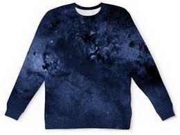"""Детский свитшот унисекс """"Звезды в небе"""" - звезды, космос, небо, синий, краски"""