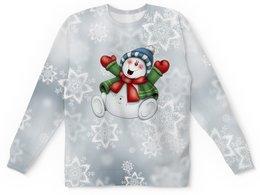 """Детский свитшот унисекс """"Новый год"""" - праздник, новый год, снежинки, снеговик, 2019"""