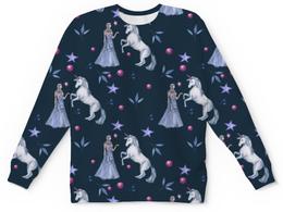 """Детский свитшот унисекс """"Волшебный лес"""" - животные, день влюбленных, 14 февраля, единорог"""