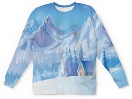 """Детский свитшот унисекс """"Зимний пейзаж"""" - снег, зима, пейзаж, природа, картина"""