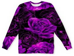 """Детский свитшот унисекс """"Розы в цвету"""" - цветы, фиолетовый, весна, цветочки, розы"""