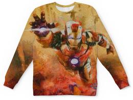"""Детский свитшот унисекс """"Железный человек"""" - комикс, кино, герой, железный человек, iron man"""