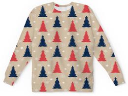 """Детский свитшот унисекс """"Елочки"""" - новый год, снег, снежинки, елки, елка"""