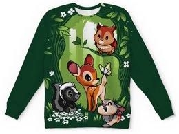 """Детский свитшот унисекс """"BAMBI. БЭМБИ"""" - стиль, заяц, сова, олененок, волшебный лес"""