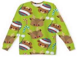 """Детский свитшот унисекс """"Мишки"""" - конфеты, новый год, мишка, олень, медведи"""