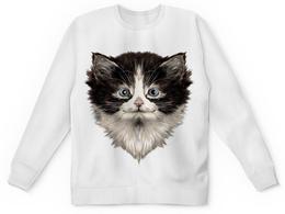 """Детский свитшот унисекс """"Морда кота"""" - коты, котики, животные, cat, кошка"""