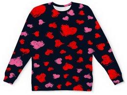 """Детский свитшот унисекс """"Сердце"""" - сердце, узор, надписи, день влюбленных, любовь"""
